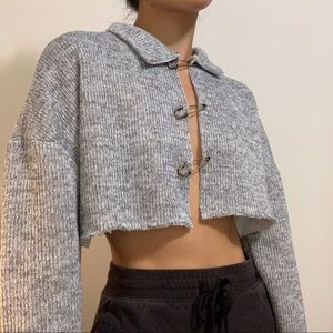 Safety pin pullover top from Zara (revamped)